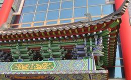 Detalles del edificio tradicional corea Foto de archivo
