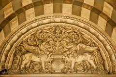 Detalles del exterior de la catedral de Marsella imagen de archivo libre de regalías