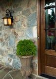 Detalles del exterior de la entrada de la casa Imagen de archivo libre de regalías