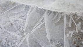 Detalles del hielo Foto de archivo