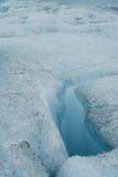 Detalles del hielo en un glaciar, al sur de Islandia Fotografía de archivo libre de regalías