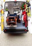 Detalles del interior de la ambulancia Imágenes de archivo libres de regalías