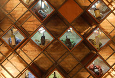 Detalles del interior del café Fotografía de archivo libre de regalías
