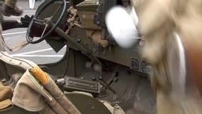 Detalles del jeep militar ww2 metrajes