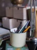 Detalles del lugar de trabajo Foto de archivo libre de regalías