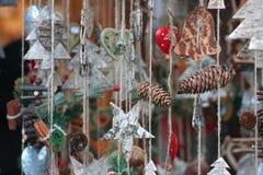 Detalles del mercado de la Navidad Fotografía de archivo libre de regalías