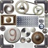 Detalles del metal Foto de archivo