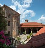 Detalles del monasterio santo de gran Meteoron Foto de archivo
