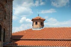 Detalles del monasterio santo de gran Meteoron Imagen de archivo