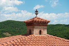 Detalles del monasterio santo de Varlaam imagen de archivo