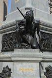 Detalles del monumento de Paul de Chomedey, sieur de Maisonneuve Fotos de archivo