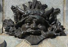 Detalles del monumento de Paul de Chomedey, sieur de Maisonneuve Imagen de archivo