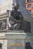 Detalles del monumento de Paul de Chomedey, sieur de Maisonneuve Fotografía de archivo
