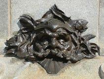 Detalles del monumento de Paul de Chomedey, sieur de Maisonneuve Imagenes de archivo