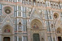 Detalles del mosaico de Jesús en el portal de la puerta de la almendra de Florence Cathed Foto de archivo