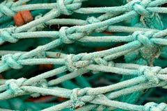 Detalles del nudo de la red de pesca Imagenes de archivo