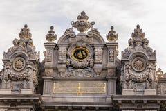 Detalles del palacio de Dolmabahce en Estambul Foto de archivo libre de regalías