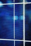 Detalles del primer de la batería del panel solar Foto de archivo libre de regalías