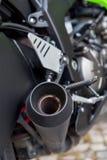 Detalles del primer del motobike Fotografía de archivo libre de regalías