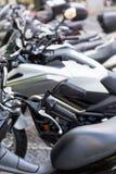 Detalles del primer del motobike Imágenes de archivo libres de regalías