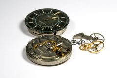 Detalles del reloj Fotografía de archivo libre de regalías