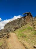 Detalles del sitio arqueológico de Pisaq, en el valle sagrado de los incas Imágenes de archivo libres de regalías