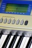 Detalles del teclado de la música Imagen de archivo