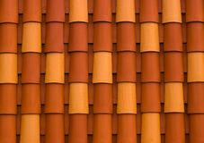 Detalles del tejado colorido imagen de archivo