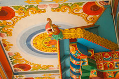 Detalles del templo budista foto de archivo