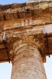 Detalles del templo de Segesta en Sicilia Imagen de archivo