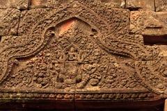 Detalles del templo de Wat Phu Champasak en Laos imágenes de archivo libres de regalías
