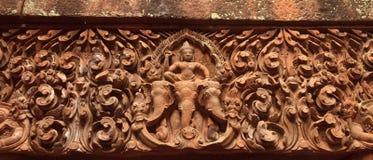 Detalles del templo de Wat Phu Champasak en Laos imagen de archivo libre de regalías