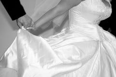 Detalles del vestido de boda Foto de archivo libre de regalías