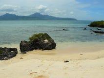 Detalles del viaje del cielo azul del mar de la playa de Mauricius Imagen de archivo libre de regalías