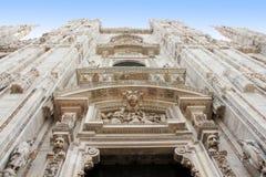 Detalles en catedral del Duomo en Milán Fotografía de archivo libre de regalías
