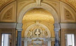 Detalles en el museo del Vaticano foto de archivo libre de regalías