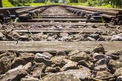 Detalles ferroviarios de los apartaderos 007-130509 Fotos de archivo libres de regalías