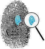 detalles fingerprint16 Arkivfoton
