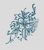 Detalles florales 皇族释放例证