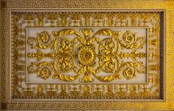 Detalles florales de oro Fotos de archivo