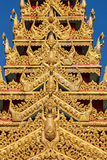 Detalles globales de la pagoda de Vipassana Fotos de archivo