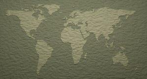 Detalles grabados en relieve mapa del mundo Imagen de archivo libre de regalías
