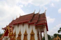 Detalles hermosos de la arquitectura en el templo de Chalong Imagen de archivo