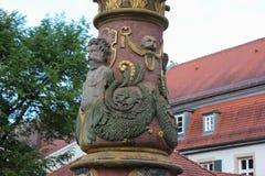 detalles históricos de la fuente Foto de archivo libre de regalías