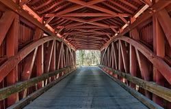 Detalles históricos del trusswork del puente cubierto de Jericó Foto de archivo libre de regalías