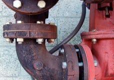 Detalles industriales del tubo Imagen de archivo libre de regalías