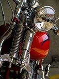 Detalles inmóviles de la motocicleta Imagen de archivo