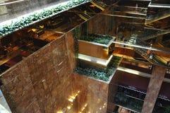 Detalles interiores de la torre del triunfo de Fifth Avenue en Manhattan de New York City en Estados Unidos Foto de archivo libre de regalías