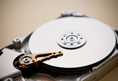 Detalles internos del mecanismo impulsor de disco duro Fotografía de archivo