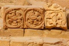 Detalles los remanente en petra Jordania Fotos de archivo libres de regalías